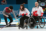 Pyeongchang, Korea, 12/march/2018-Dennis Thiessen, Ina Forrest compete in wheelchair curling during the 2018 Paralympic Games in PyeongChang. Photo Scott Grant/Canadian Paralympic Committee.