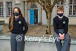 Gaelcholáiste Chiarraí students Sorcha Ní Chathasaigh and Gavin O'Caoimh who returned back to school on Monday