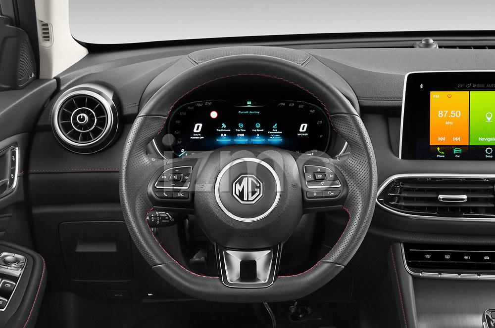 Car pictures of steering wheel view of a 2021 Mg EHS Luxury 5 Door SUV Steering Wheel