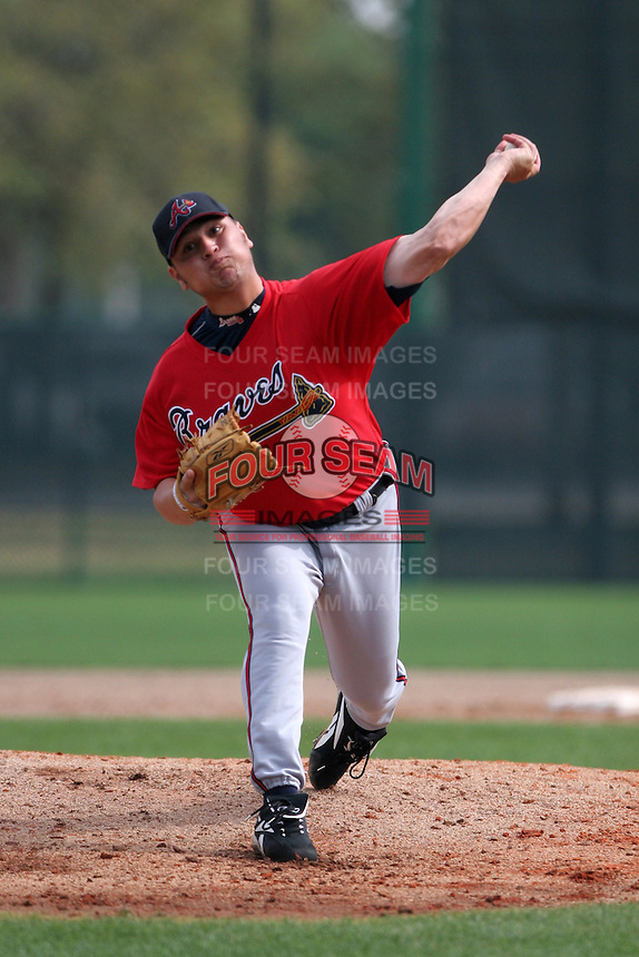 Atlanta Braves minor leaguer Jo Jo Reyes during Spring Training at Disney's Wide World of Sports on March 14, 2007 in Orlando, Florida.  (Mike Janes/Four Seam Images)