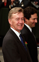 Preston Manning<br />  aux funerailles de Pierre Trudeau le 10 Octobre 2000, a la Basilique Notre-Dame<br /> <br /> <br /> PHOTO :  Agence Quebec Presse