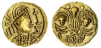 BNPS.co.uk (01202) 558833. <br /> Pic: Spink&Son/BNPS<br /> <br /> Pictured: This Post-Crondall Types (c. 655-675), Pale Gold Shilling sold for £22,800. <br /> <br /> A finance director's remarkable collection of historic Anglo-Saxon coins has sold for a staggering £856,000.<br /> <br /> Tony Abramson, president of the Yorkshire Numismatic Society, started collecting aged four in the 1950s.<br /> <br /> His passion developed during his teenage years and he went to great lengths to bolster his collection in the decades that followed until it reached 1,200 coins.
