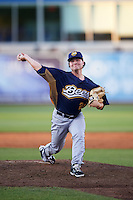 Burlington Bees relief pitcher Mike Kaelin (29) during a game against the West Michigan Whitecaps on July 25, 2016 at Fifth Third Ballpark in Grand Rapids, Michigan.  West Michigan defeated Burlington 4-3.  (Mike Janes/Four Seam Images)