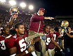 Florida State University head coach Bobby Bowden became the winningest NCAA Division 1 football coach of all time by defeating Wake Forest 41-24 in Tallahassee October 24, 2003. (Mark Wallheiser/TallahasseeStock.com)
