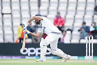 Rohit Sharma of India pushes into the off side during India vs New Zealand, ICC World Test Championship Final Cricket at The Hampshire Bowl on 22nd June 2021