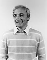 EXCLUSIVE FILE PHOTO - Yvon Deschamps studio portrait in August 1983.<br /> <br /> <br /> Photo :  Agence Quebec Presse - Denis Alix