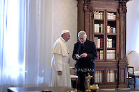 Pope Francis   Padre Lombardi.Polish President Andrzej Duda  during a private audience at the Vatican on November 9, 2015.