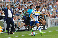 SAINT PAUL, MN - JULY 3: Cristian Espinoza #10 of the San Jose Earthquakes with the ball during a game between San Jose Earthquakes and Minnesota United FC at Allianz Field on July 3, 2021 in Saint Paul, Minnesota.