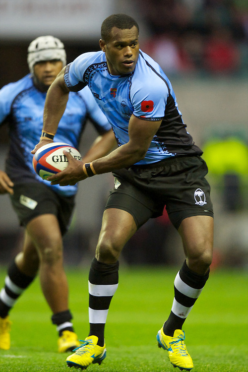 Watisoni Votu of the Flying Fijians in action during the QBE International between England and Fiji at Twickenham on Saturday 10th November 2012 (Photo by Rob Munro)