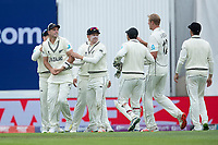 Tim Southee congratulated following his catch to dismiss Rohit Sharma during India vs New Zealand, ICC World Test Championship Final Cricket at The Hampshire Bowl on 19th June 2021