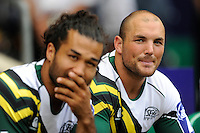Bruce Thomas (right) and Mike Te'o of San Francisco Golden Gate look on during the World Club 7s at Twickenham on Sunday 18th August 2013 (Photo by Rob Munro)