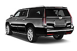 Car pictures of rear three quarter view of 2017 Cadillac Escalade-ESV Luxury 5 Door SUV Angular Rear