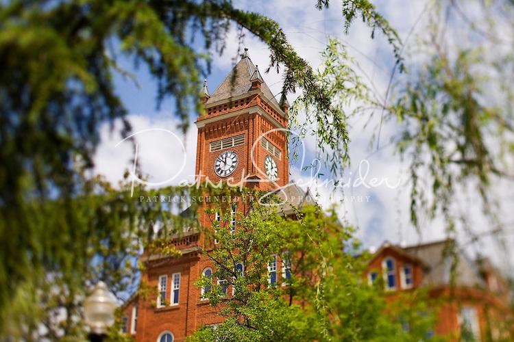 The iconic clock tower on Johnson C. Smith University campus.