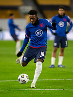 13th October 2020; Molineux Stadium, Wolverhampton, West Midlands, England; UEFA Under 21 European Championship Qualifiers, Group Three, England Under 21 versus Turkey Under 21; Callum Hudson Odoi of England with the ball at his feet takes a shot at goal during the warm up