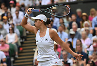 8th July 2021, Wimbledon, SW London, England; 2021 Wimbledon Championships, quarterfinals;  Ashleigh Barty , Australia