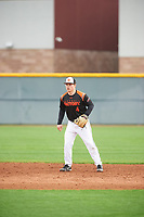 Nick Biddison (4) of Saint Chrisophers High School in Glen Allen, Virginia during the Under Armour All-American Pre-Season Tournament presented by Baseball Factory on January 15, 2017 at Sloan Park in Mesa, Arizona.  (Zac Lucy/MJP/Four Seam Images)