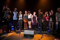 12 francophone artists  :<br /> Tommy Moreau (Gaspesie), Marjorie Fiset (Quebec) ,Sylvia Beaudry (Québec), Janie Renee (Ontario), Raphaël Butler (Nouveau-Brunswick), Wolanyo (Ontario), Abel Maxwell (Ontario), Rayannah (Manitoba), Javier Zubillaga (Uruguay), Kebert Bastien (Haïti), Pierre Yves Serre (France)  Liz Van Deuq (France).<br /> attend the  Festival en Chanson of Petite-Vallee in Gaspesia on June 27, 2014<br /> <br /> Photo : Agence Quebec Presse  - Frederic Seguin