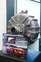 Montreal's AUTO SHOW 2007 feature many electric cars. An electric integrated motor-wheel is seen in this photo<br /> <br /> <br /> photo :  Images Distribution