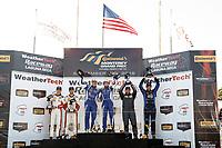 #73 MINI JCW Team, MINI JCW, ST: Mat Pombo, Mike LaMarra, #81 BimmerWorld Racing, BMW 328i, ST: Nick Galante, Devin Jones, #21 Bodymotion Racing, Porsche Cayman, ST: Max Faulkner, Jason Rabe, podium
