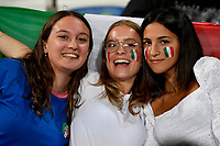 Italian fans cheer on during the Qatar 2022 world cup qualifying football match between Italy and Lithuania at Citta del tricolore stadium in Reggio Emilia (Italy), September 8th, 2021. Photo Andrea Staccioli / Insidefoto