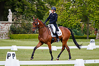 AUS-Sam Griffiths rides CU Chulain during the Dressage for the CCI-L 2* Section A. 2021 GBR-Saracen Horse Feeds Houghton International Horse Trials. Hougton Hall. Norfolk. England. Thursday 27 May 2021. Copyright Photo: Libby Law Photography