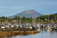 Mt. Edgecumbe and boat harbor, Sitka, Alaska