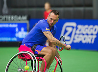 Rotterdam,Netherlands, December 15, 2015,  Topsport Centrum, Lotto NK Tennis, Jelle Oosterwijk (NED)<br /> Photo: Tennisimages/Henk Koster