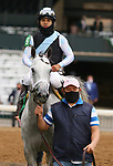 "Octover 04, 2020 : #5 Valiance and jockey Luis Saez win the 65th running of The Huddmonte Spinster (Grade 1) ""Win and You're In Breeders' Cup Distaff Division"" $400,000 for owner Eclipse Thoroughbred Partners and trainer Todd Pletcher at Keeneland Racecourse in Lexington, KY on October 04, 2020.  Candice Chavez/ESW/CSM"
