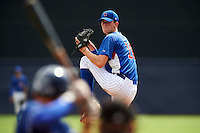 Pitcher Ben Jordan (16) of Wild Carter County High School in Olive Hill, Kentucky playing for the Chicago Cubs scout team during the East Coast Pro Showcase on July 30, 2015 at George M. Steinbrenner Field in Tampa, Florida.  (Mike Janes/Four Seam Images)