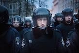 Pro EU Demonstrationen am 03.12.2013 in Kiew. Auseinandersetzungen mit der Polizei.