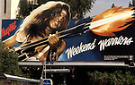 Ted Nugent billboard on the  Sunset Strip in Los Angeles circa 1979