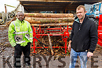 Peter Chawke and David Galway of All Fuel Supplies (AFS) in their yard in Ballyheigue on Thursday.