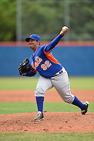 New York Mets pitcher Paul Paez (92) during a minor league spring training game against the St. Louis Cardinals on March 27, 2014 at the Port St. Lucie Training Complex in Port St. Lucie, Florida.  (Mike Janes/Four Seam Images)