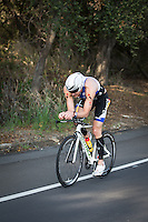 Andy Potts competes during the bike portion of the Accenture Ironman California 70.3 in Oceanside, CA on March 29, 2014.