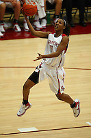 10 January 2008: Stanford Cardinal Candice Wiggins during Stanford's 81-45 win against the Oregon State Beavers at Maples Pavilion in Stanford, CA.