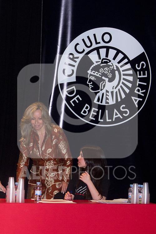 24.04.2012. XVI continued reading of Don Quixote at the Circulo de Bellas Artes in Madrid. In the image Trinidad Jimenez, Deputy for Malaga, Secretary of Social Policy of the Federal Executive of the PSOE (Alterphotos/Marta Gonzalez)