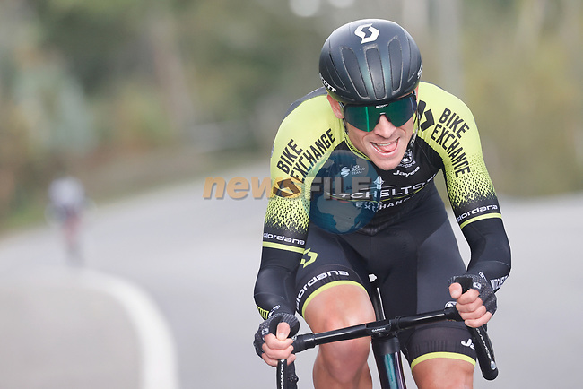 The breakaway including Dion Smith (NZL) Mitchelton-Scott during Stage 15 of the Vuelta Espana 2020, running 230.8km from Mos to Puebla de Sanabria, Spain. 5th November 2020. <br /> Picture: Luis Angel Gomez/PhotoSportGomez | Cyclefile<br /> <br /> All photos usage must carry mandatory copyright credit (© Cyclefile | Luis Angel Gomez/PhotoSportGomez)