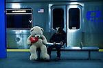 Americans celebrate Valentine's day in New York