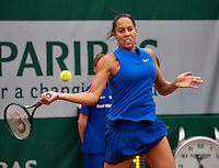Paris, France, 01 June, 2016, Tennis, Roland Garros, Madison Keys (USA) in her match against Kiki Bertens (NED)<br /> Photo: Henk Koster/tennisimages.com