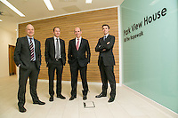 Pictured at Gateley's new Ropewalk offices from left are Andy Matthews of Gateley, James Hall from Geo Hallam & Sons, John Proctor from FHP and James Keeton of JLL
