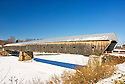 The wonderfully long and strong Cornish-Windsor Covered Bridge spanning the Connecticut River.