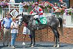 "12 July 2009: Slip Away in the winners circle after the David L. ""Zeke"" Ferguson Memorial Stakes (Gr III)"