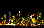 Seattle night skyline seen from Duwamish Head (aka: Alki) across bay in West Seattle.