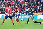 Atletico de Madrid Angel Martin Correa an Saul Niguez during La Liga match between Atletico de Madrid and Athletic Club and Wanda Metropolitano in Madrid , Spain. February 18, 2018. (ALTERPHOTOS/Borja B.Hojas)