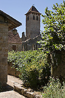 Europe/France/Midi-Pyrénées/46/Lot/Marcilhac-sur-Célé: Clocher de l'ancienne  abbatiale