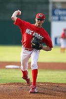 August 3rd 2008:  Pitcher Zach Pitts of the Batavia Muckdogs, Class-A affiliate of the St. Louis Cardinals, during a game at Dwyer Stadium in Batavia, NY.  Photo by:  Mike Janes/Four Seam Images