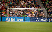 AUSTIN, TX - JUNE 16: Sponsors during a game between Nigeria and USWNT at Q2 Stadium on June 16, 2021 in Austin, Texas.
