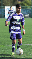20151031 - KORTRIJK , BELGIUM : Anderlecht 's Emil Abaz pictured during the Under 19 ELITE soccer match between KV Kortrijk and RSC Anderlecht U19 , on the thirteenth matchday in the -19 Elite competition. Saturday 31 October 2015. PHOTO DAVID CATRY