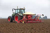 1-3-2021 Drilling Spring Barley in the Lincolnshire Fens <br />  ©Tim Scrivener Photographer 07850 303986<br />      ....Covering Agriculture In The UK....