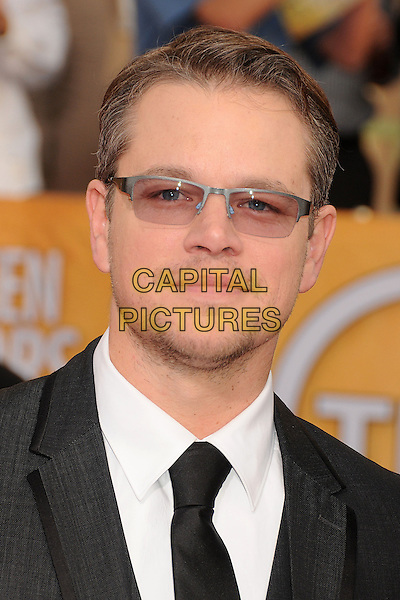 18 January 2014 - Los Angeles, California - Matt Damon. 20th Annual Screen Actors Guild Awards - Arrivals held at The Shrine Auditorium. Photo Credit: Byron Purvis/AdMedia<br /> CAP/ADM/BP<br /> ©Byron Purvis/AdMedia/Capital Pictures